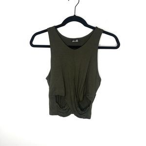 Dee Elle | Army Green Crop Top Cross
